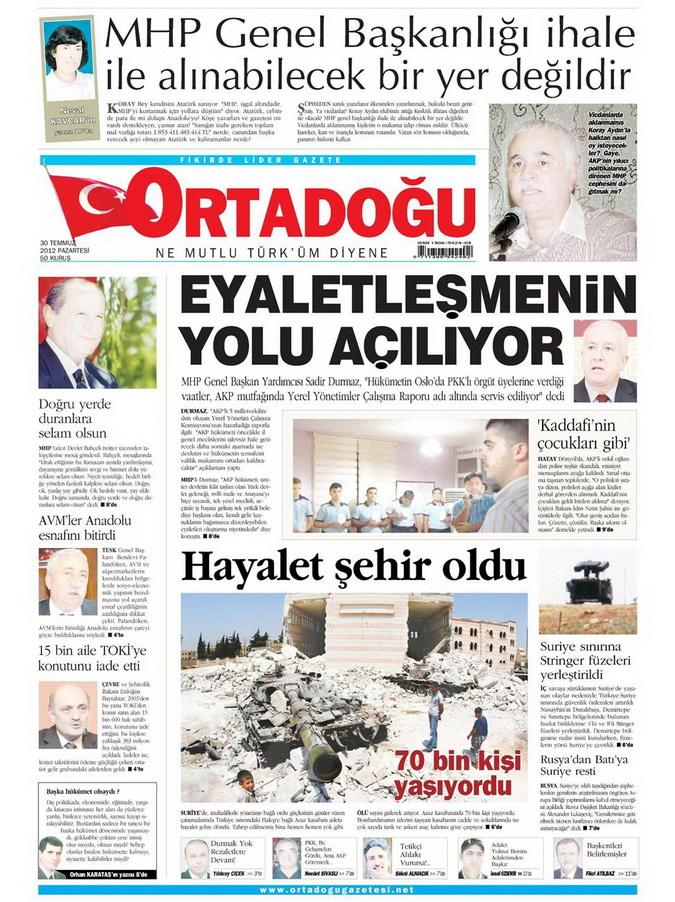 Gazete Manşetleri - 30 Temmuz 2012 10