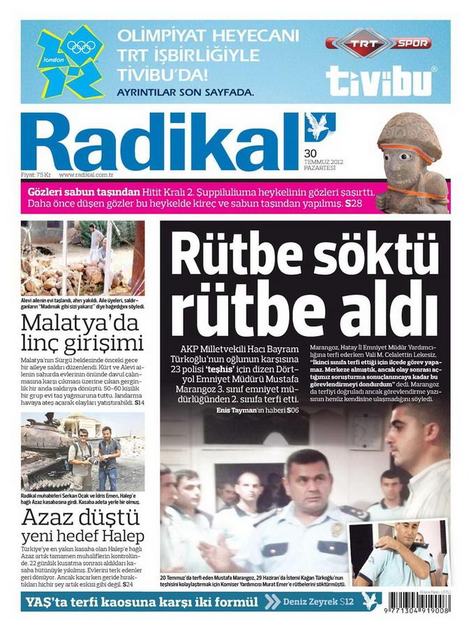 Gazete Manşetleri - 30 Temmuz 2012 12