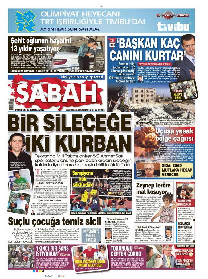 Gazete Manşetleri - 30 Temmuz 2012 13