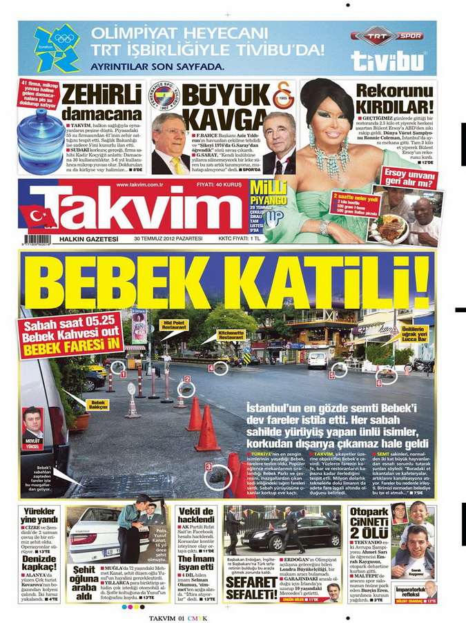 Gazete Manşetleri - 30 Temmuz 2012 16