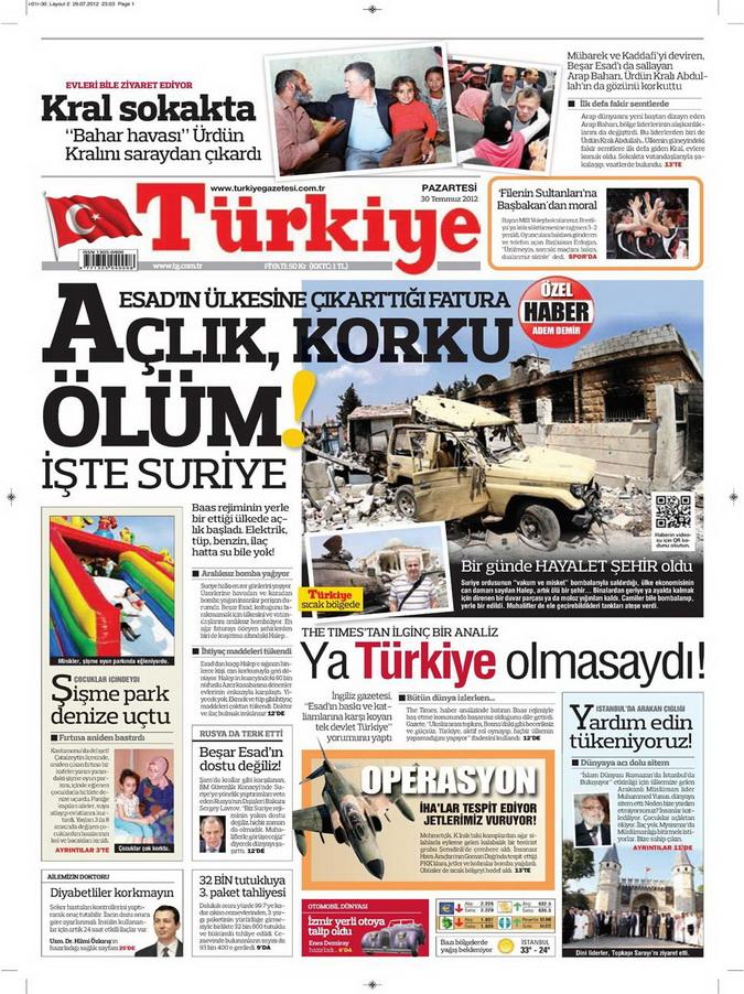 Gazete Manşetleri - 30 Temmuz 2012 19