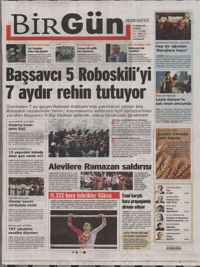 Gazete Manşetleri - 30 Temmuz 2012 2