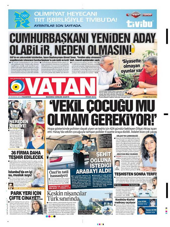 Gazete Manşetleri - 30 Temmuz 2012 20