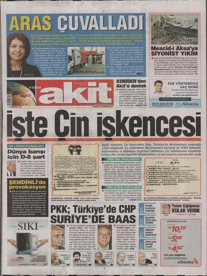 Gazete Manşetleri - 30 Temmuz 2012 21
