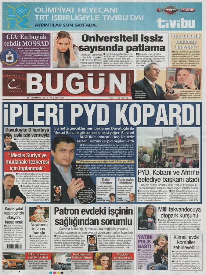 Gazete Manşetleri - 30 Temmuz 2012 3