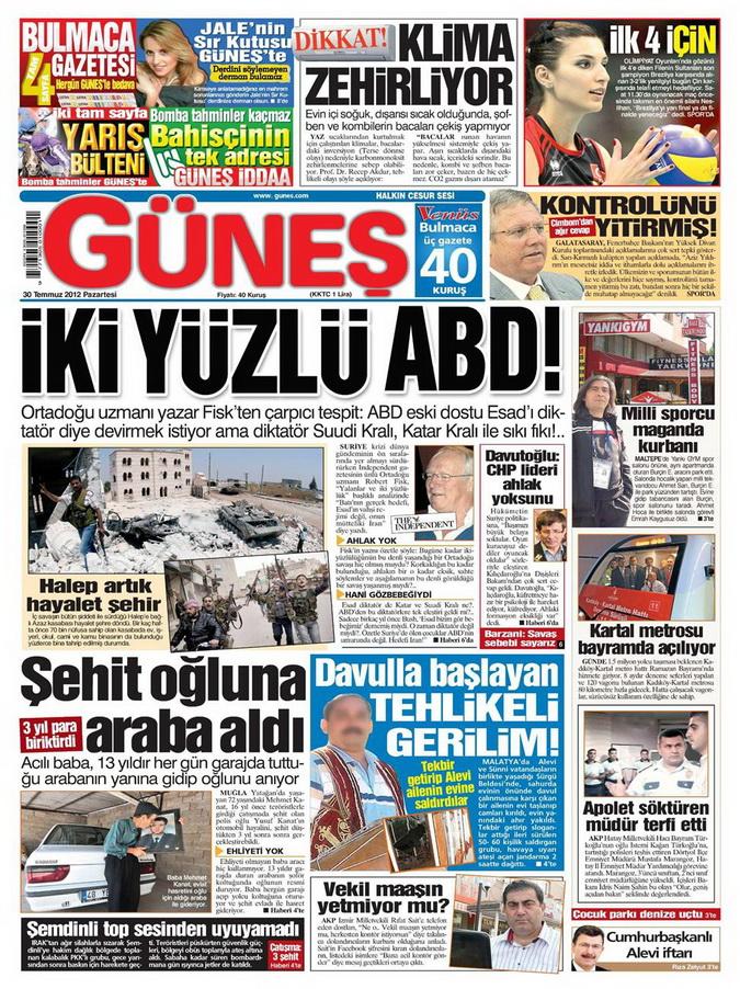 Gazete Manşetleri - 30 Temmuz 2012 5