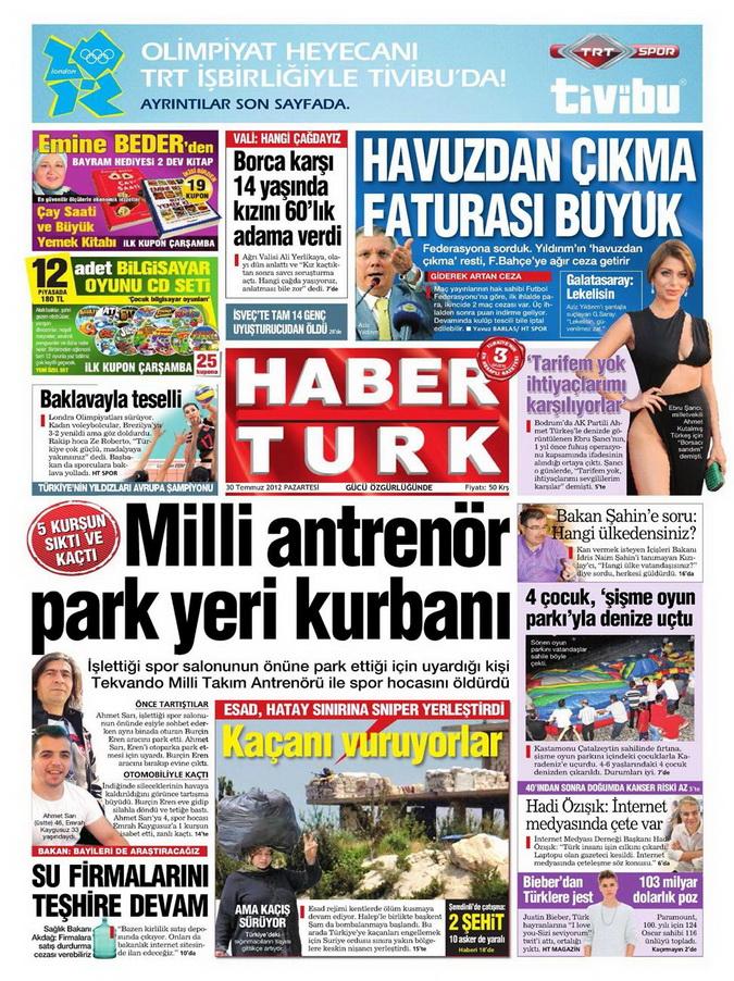 Gazete Manşetleri - 30 Temmuz 2012 6