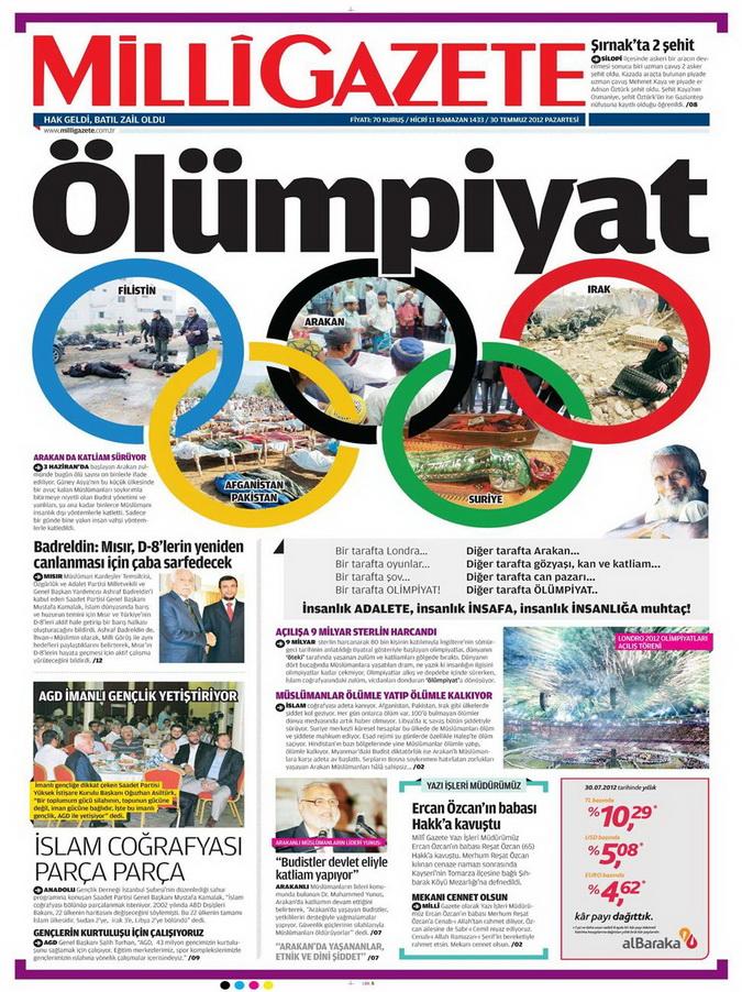 Gazete Manşetleri - 30 Temmuz 2012 8