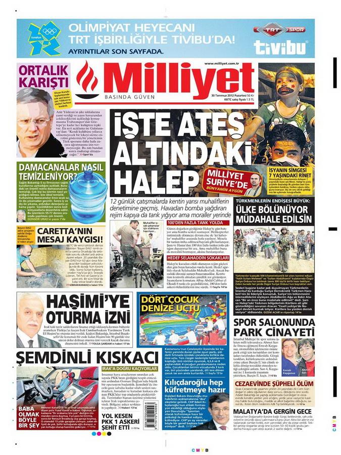 Gazete Manşetleri - 30 Temmuz 2012 9