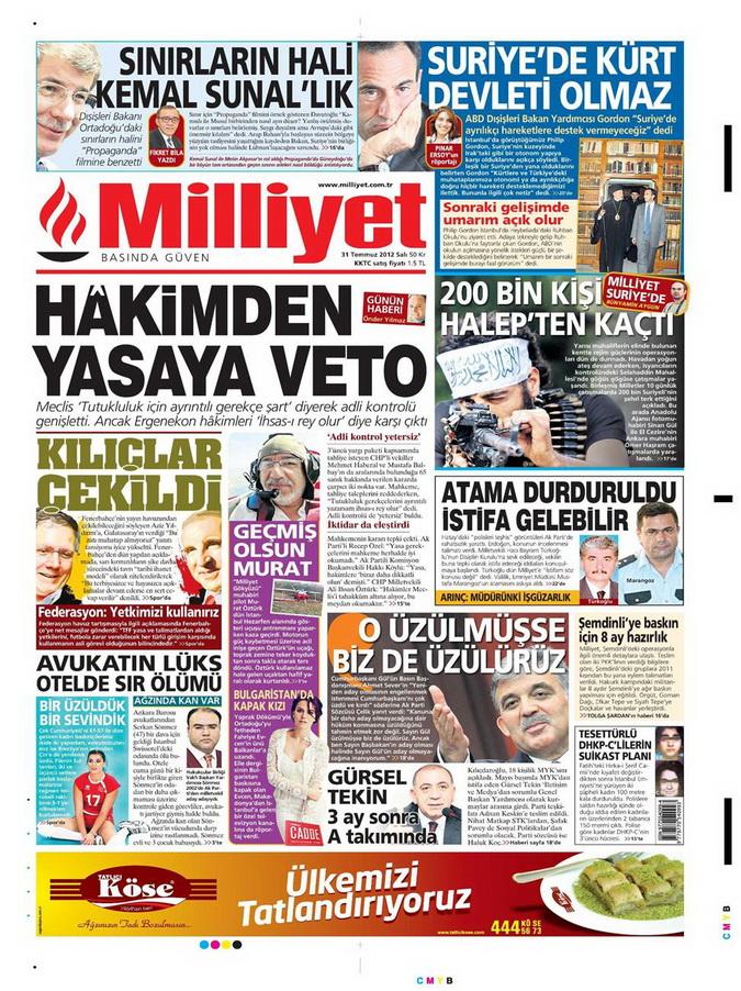 Gazete Manşetleri - 31 Temmuz 2012 10