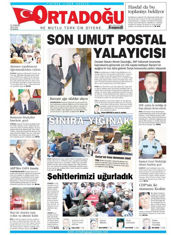 Gazete Manşetleri - 31 Temmuz 2012 11