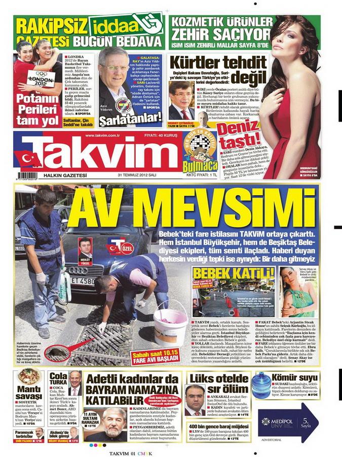 Gazete Manşetleri - 31 Temmuz 2012 17