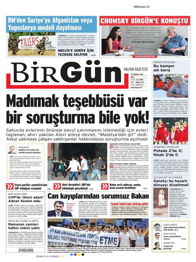 Gazete Manşetleri - 31 Temmuz 2012 2