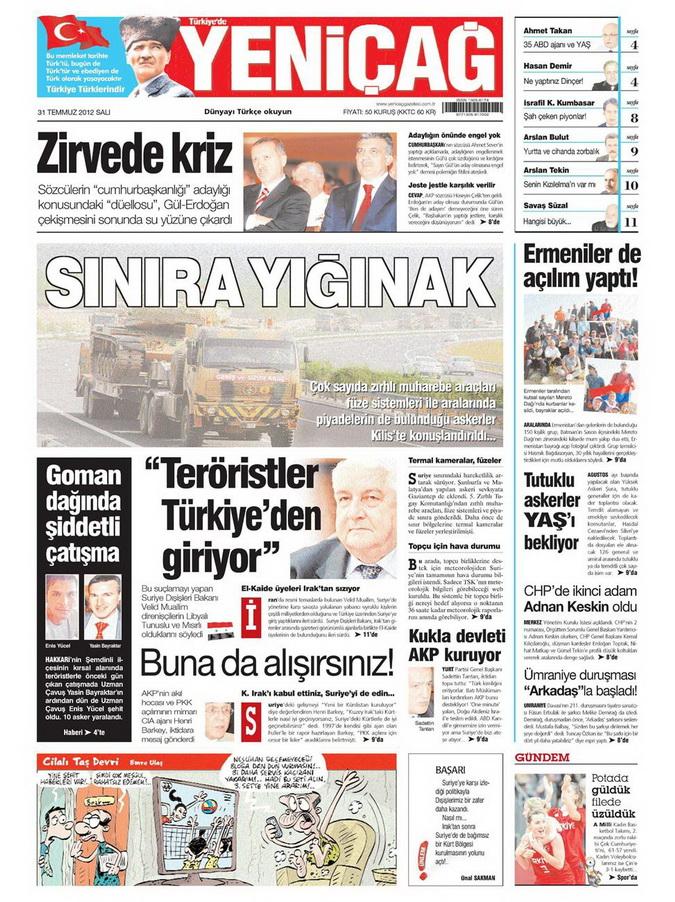 Gazete Manşetleri - 31 Temmuz 2012 20