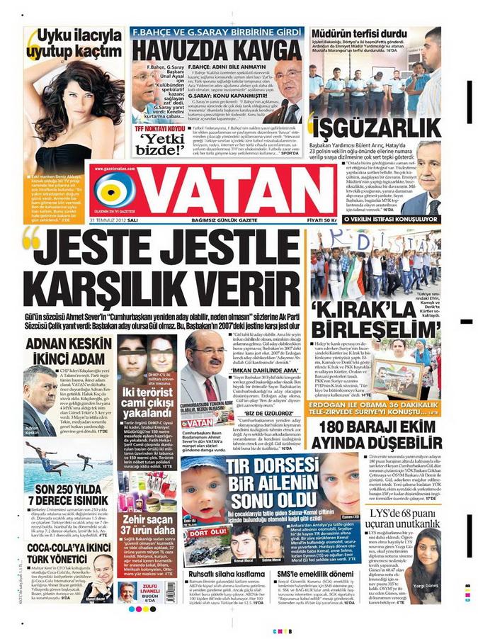 Gazete Manşetleri - 31 Temmuz 2012 21