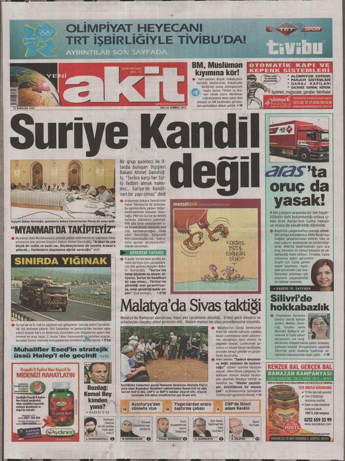 Gazete Manşetleri - 31 Temmuz 2012 22