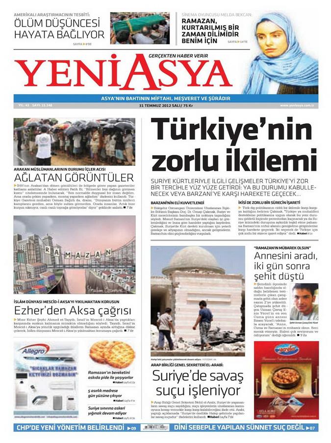 Gazete Manşetleri - 31 Temmuz 2012 23
