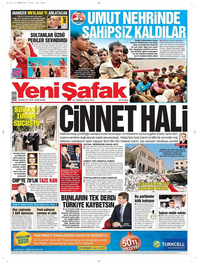 Gazete Manşetleri - 31 Temmuz 2012 24