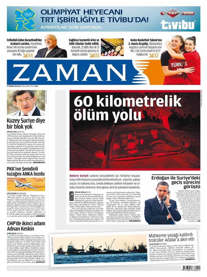 Gazete Manşetleri - 31 Temmuz 2012 25