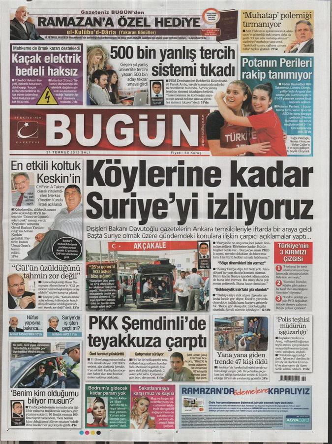 Gazete Manşetleri - 31 Temmuz 2012 3