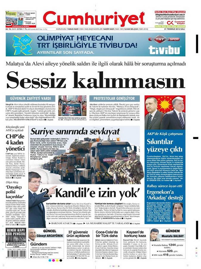 Gazete Manşetleri - 31 Temmuz 2012 4