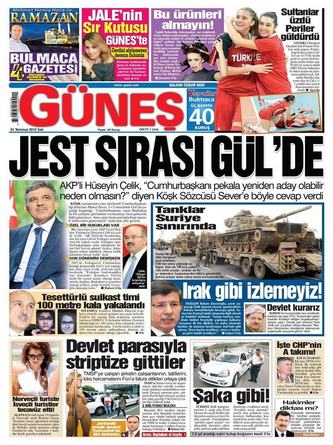 Gazete Manşetleri - 31 Temmuz 2012 5
