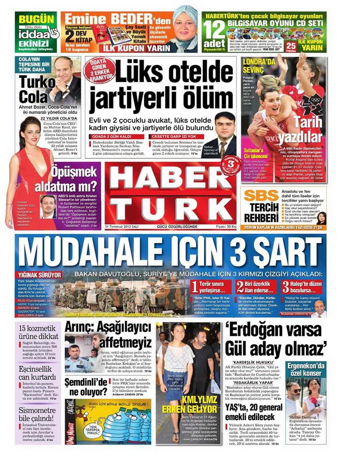 Gazete Manşetleri - 31 Temmuz 2012 6