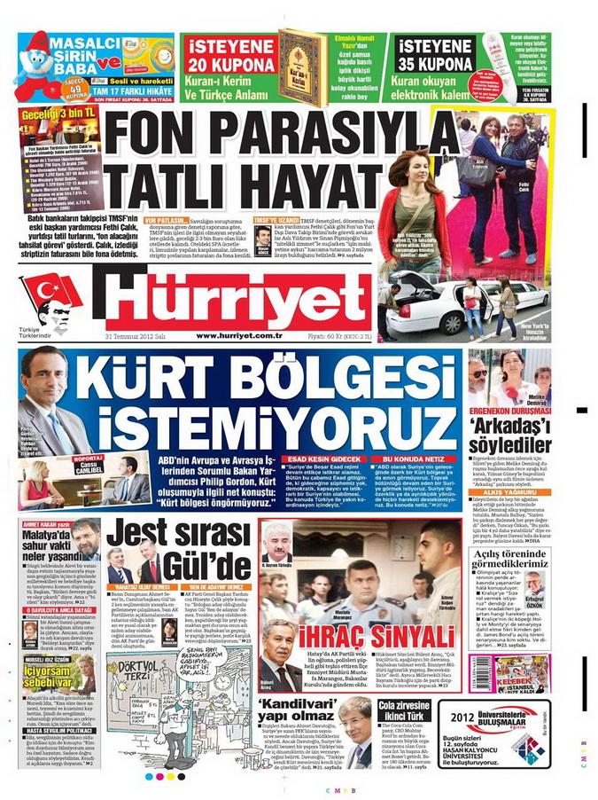 Gazete Manşetleri - 31 Temmuz 2012 7