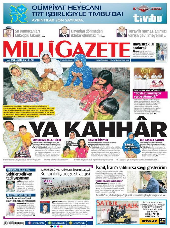 Gazete Manşetleri - 31 Temmuz 2012 9