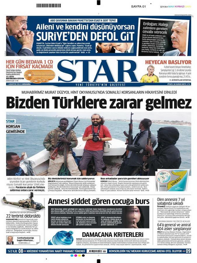 Gazete Manşetleri - 1 Ağustos 2012 14