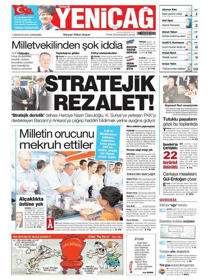Gazete Manşetleri - 1 Ağustos 2012 18