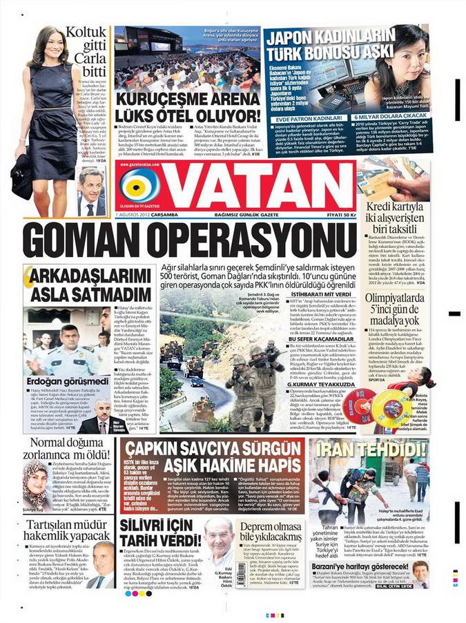 Gazete Manşetleri - 1 Ağustos 2012 19