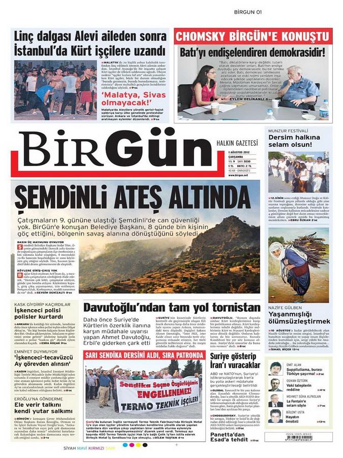 Gazete Manşetleri - 1 Ağustos 2012 2