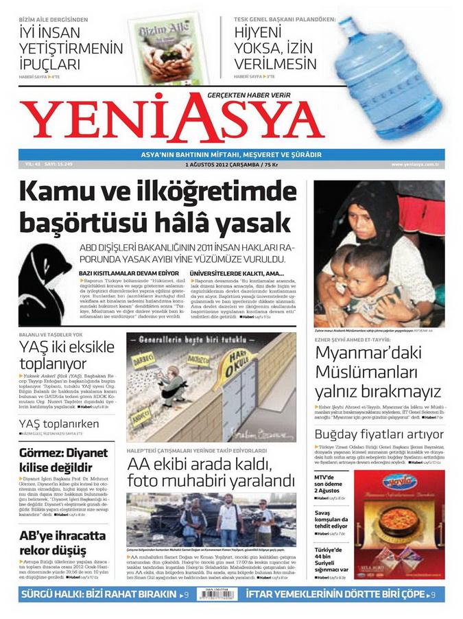Gazete Manşetleri - 1 Ağustos 2012 21