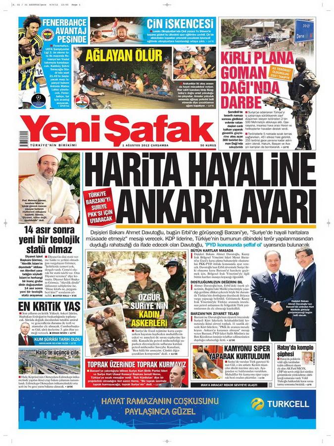 Gazete Manşetleri - 1 Ağustos 2012 22