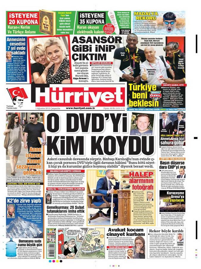 Gazete Manşetleri - 1 Ağustos 2012 5
