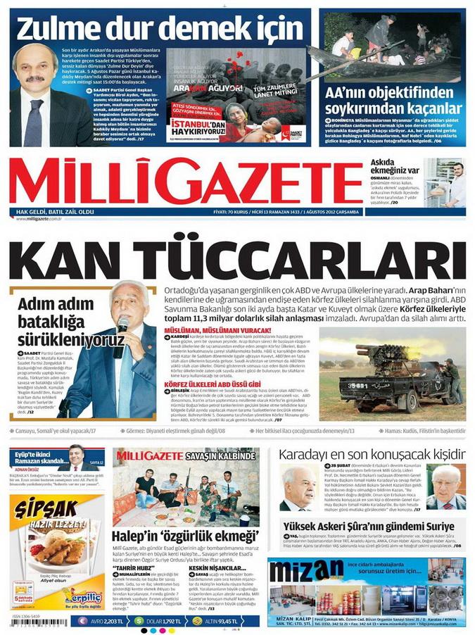 Gazete Manşetleri - 1 Ağustos 2012 7