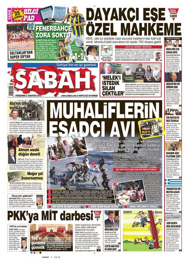 Gazete Manşetleri - 2 Ağustos 2012 10