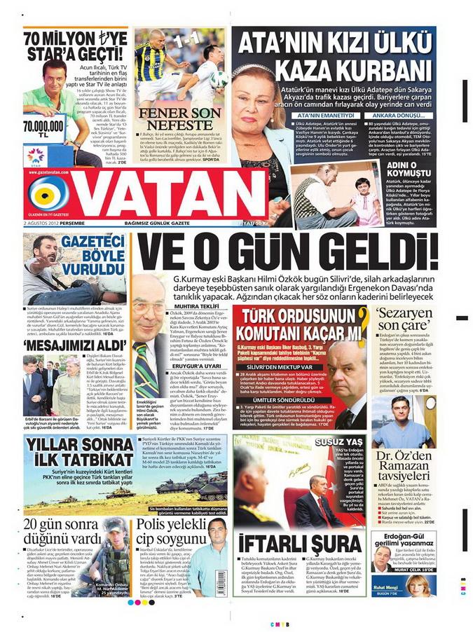 Gazete Manşetleri - 2 Ağustos 2012 16