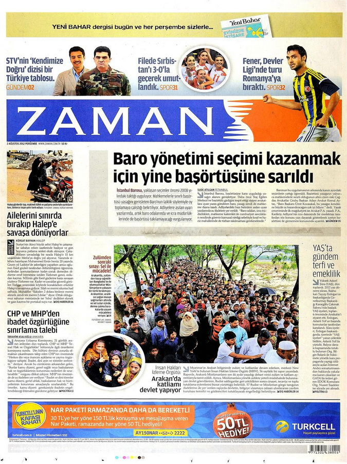 Gazete Manşetleri - 2 Ağustos 2012 19