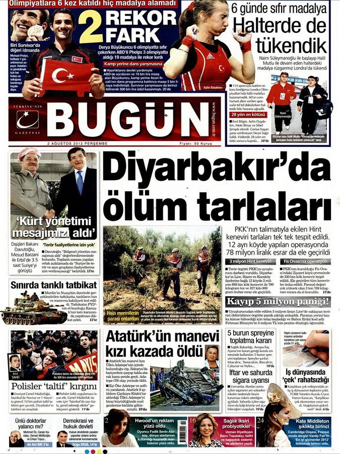Gazete Manşetleri - 2 Ağustos 2012 2