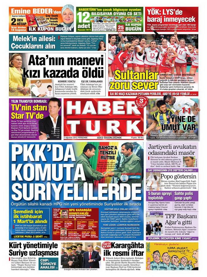 Gazete Manşetleri - 2 Ağustos 2012 4