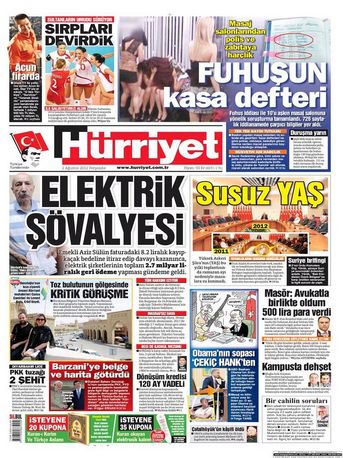 Gazete Manşetleri - 2 Ağustos 2012 5