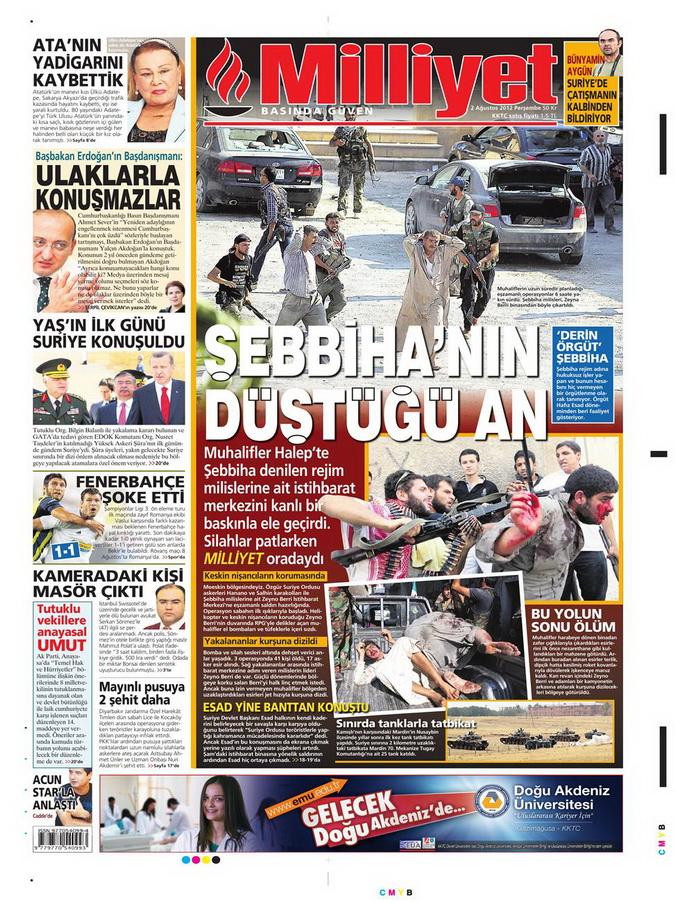 Gazete Manşetleri - 2 Ağustos 2012 7