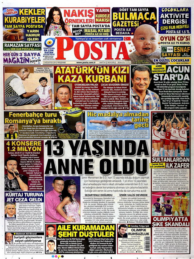 Gazete Manşetleri - 2 Ağustos 2012 8