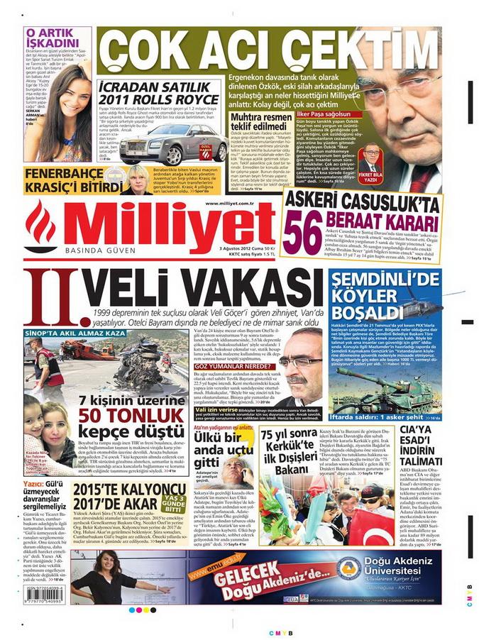 Gazete Manşetleri - 3 Ağustos 2012 7