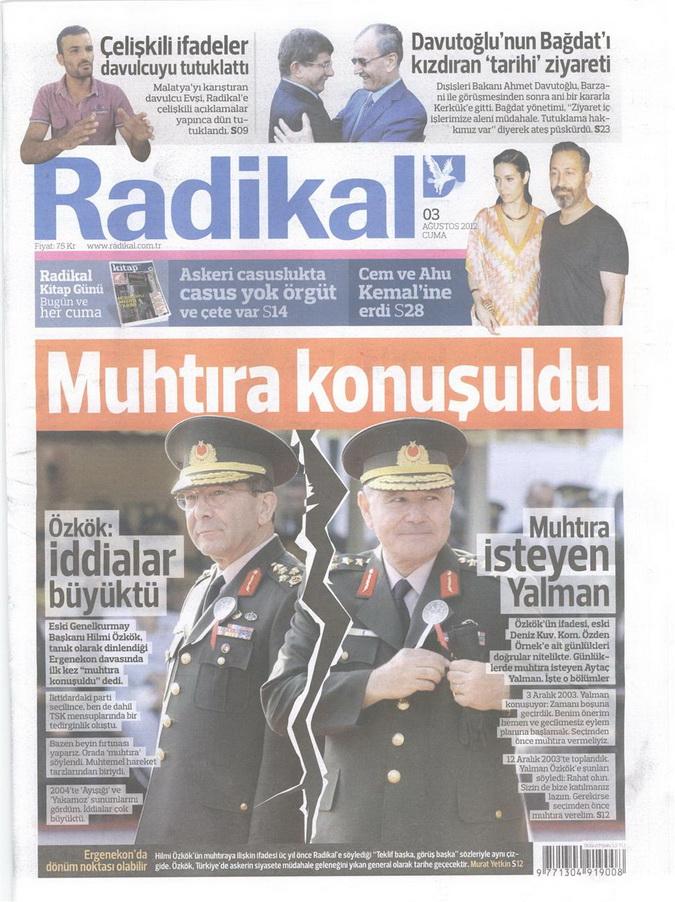 Gazete Manşetleri - 3 Ağustos 2012 8