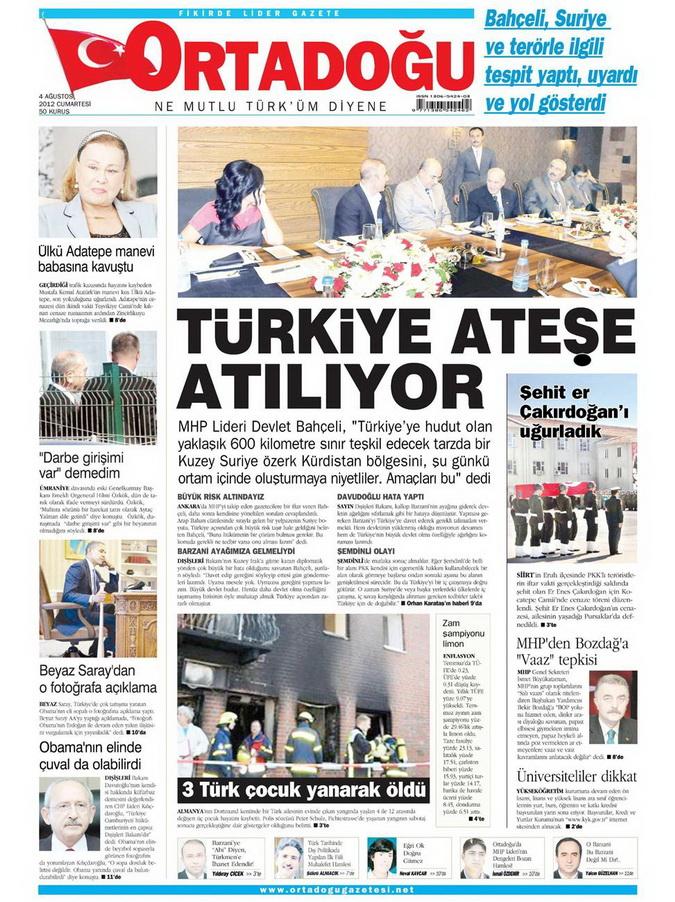 Gazete Manşetleri - 4 Ağustos 2012 10