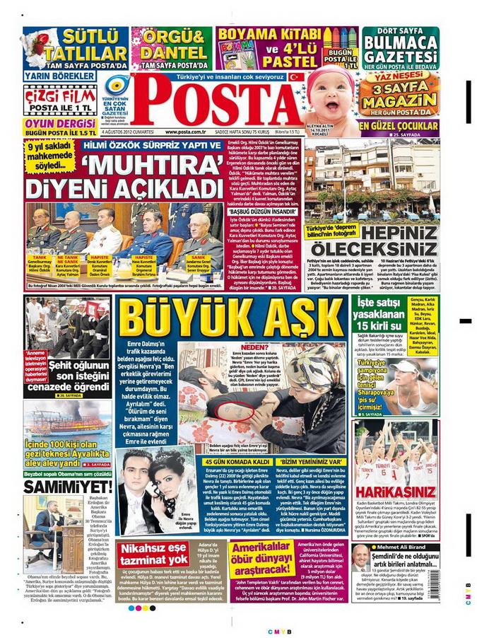 Gazete Manşetleri - 4 Ağustos 2012 11