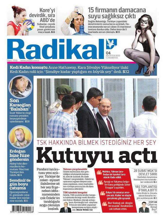 Gazete Manşetleri - 4 Ağustos 2012 12